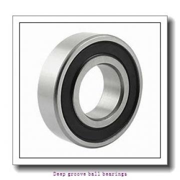 1,5 mm x 6 mm x 3 mm  skf W 630/1.5 R-2Z Deep groove ball bearings