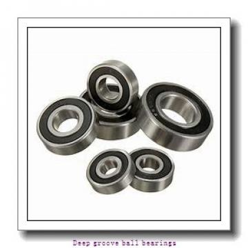 6.35 mm x 9.525 mm x 3.175 mm  skf D/W R168  R-2ZS Deep groove ball bearings