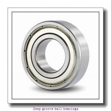 6 mm x 17 mm x 6 mm  skf W 606-2Z Deep groove ball bearings