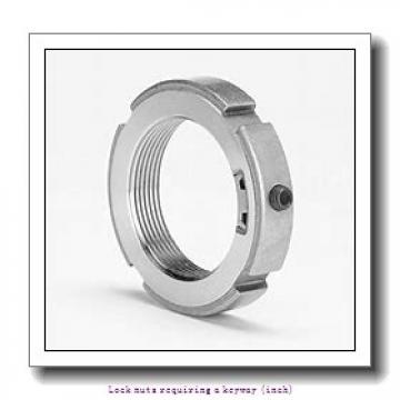 skf N 00 Lock nuts requiring a keyway (inch)