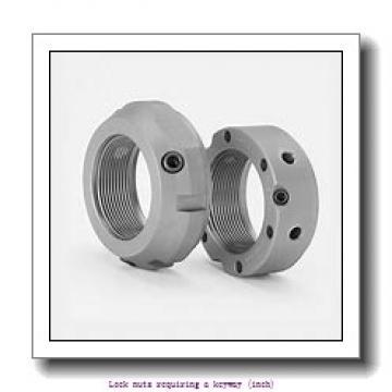 skf N 500 Lock nuts requiring a keyway (inch)