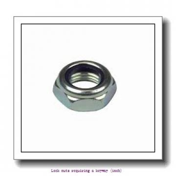 skf N 750 Lock nuts requiring a keyway (inch)
