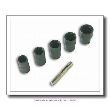 skf N 44 Lock nuts requiring a keyway (inch)