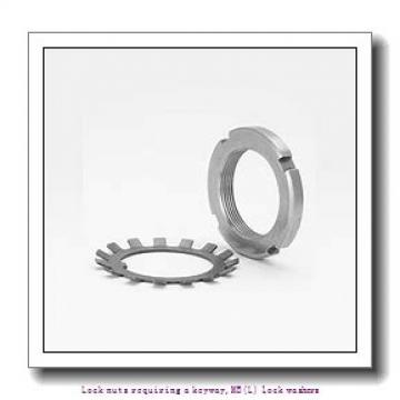 skf MB 2 Lock nuts requiring a keyway,MB(L) lock washers