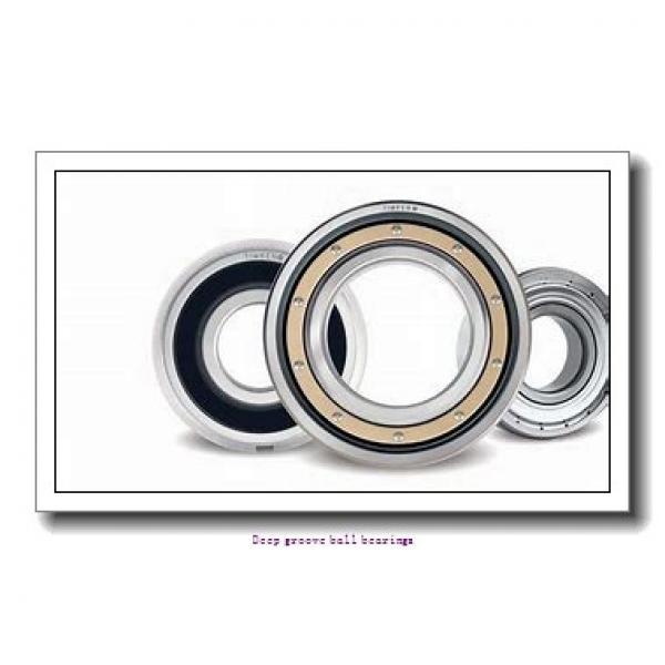 1.397 mm x 4.762 mm x 2.779 mm  skf D/W R1-2Z Deep groove ball bearings #1 image