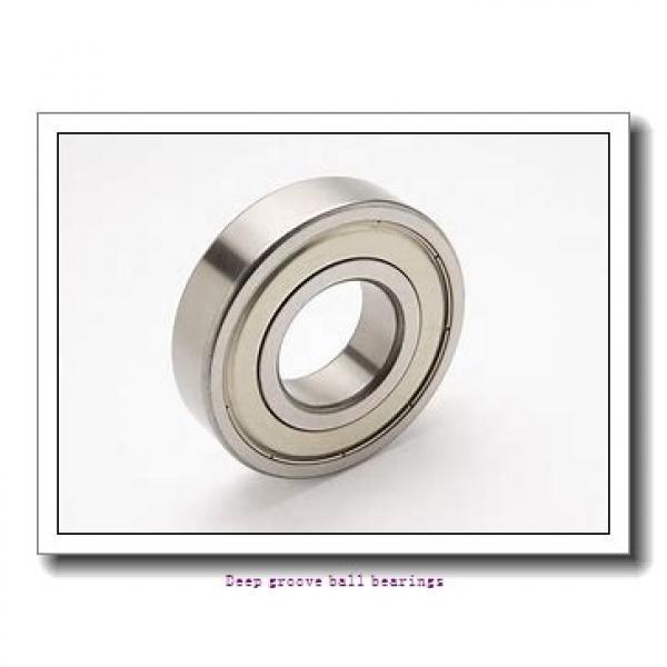 4 mm x 13 mm x 5 mm  skf W 624-2RZ Deep groove ball bearings #1 image