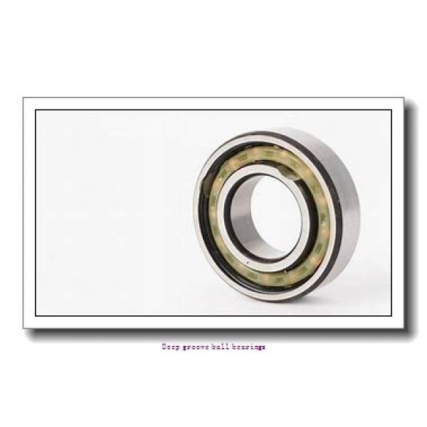 15.875 mm x 34.925 mm x 8.733 mm  skf D/W R10-2RZ Deep groove ball bearings #1 image