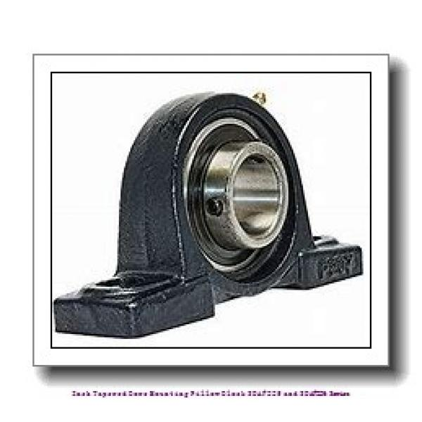 3.188 Inch | 80.975 Millimeter x 2.00 in x 15.5000 in  timken SDAF 22618 Inch Tapered Bore Mounting Pillow Block SDAF225 and SDAF226 Series #2 image