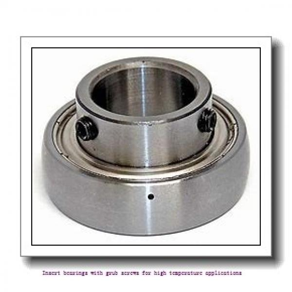 40 mm x 80 mm x 49.2 mm  skf YAR 208-2FW/VA201 Insert bearings with grub screws for high temperature applications #1 image