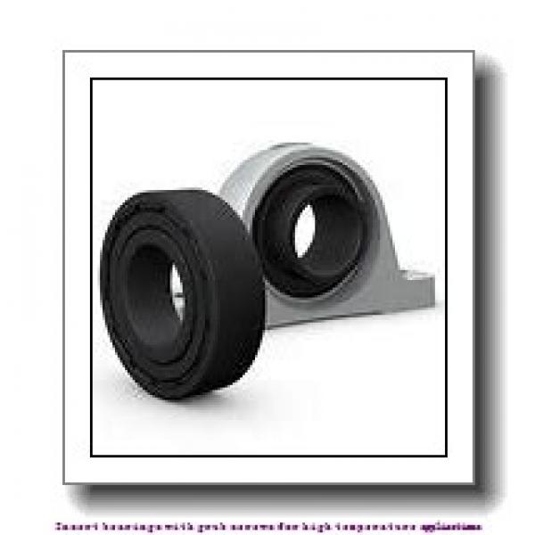 40 mm x 80 mm x 49.2 mm  skf YAR 208-2FW/VA201 Insert bearings with grub screws for high temperature applications #2 image