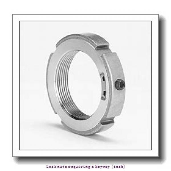 skf N 02 Lock nuts requiring a keyway (inch) #1 image