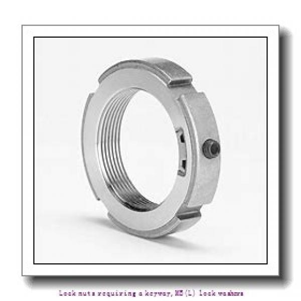skf MB 4 Lock nuts requiring a keyway,MB(L) lock washers #1 image