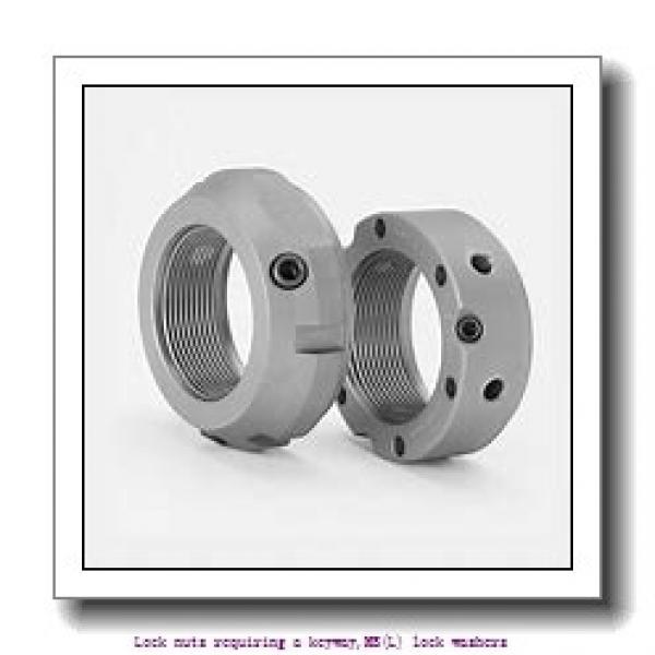 skf MB 12 Lock nuts requiring a keyway,MB(L) lock washers #1 image
