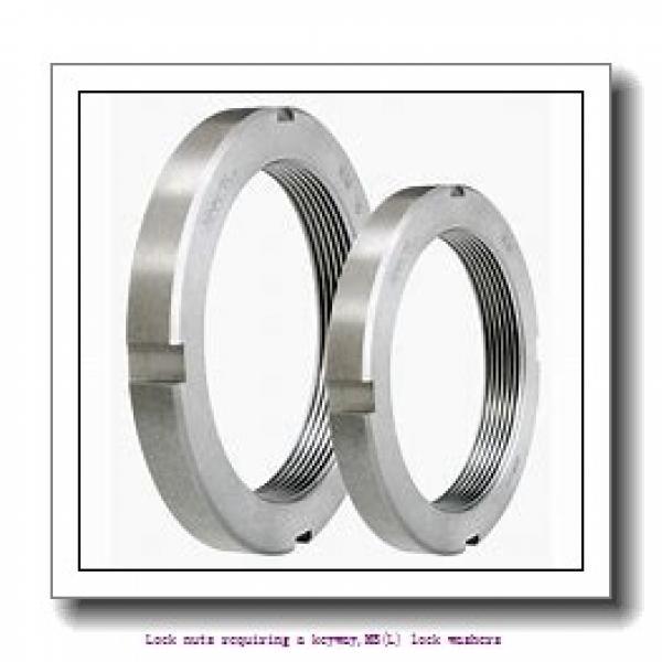 skf MB 2 A Lock nuts requiring a keyway,MB(L) lock washers #1 image